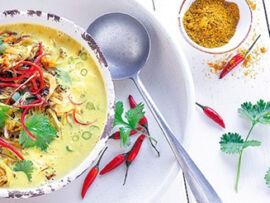 Gefro Balance erőlevesporból készült leves kerti fűszerekkel
