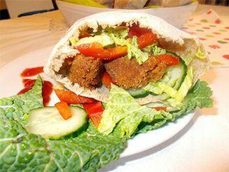 pita (falafel) recept bulkshop vegán növényi alapú plantbased