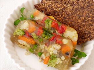 Zöldségkocsonya recept bulkshop vegán plantbased növényi alapú